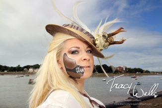 Tracy Wells designer Millinery,photography by PM Kells